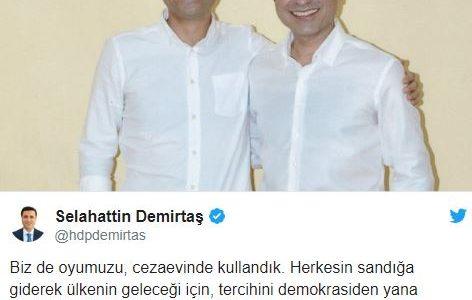 المرشح الرئاسي صلاح ديميرتاش: أدليت بصوتي في الانتخابات التركية من السجن