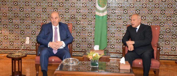 أبو الغيط يؤكد خلال استقباله لعلاوي دعمه لجهود الحفاظ على وحدة واستقرار العراق