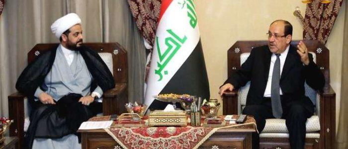 المالكي يبحث مع الخزعلي تشكيل التحالف الوطني الشامل