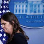 متحدثة البيت الأبيض سارة ساندرز ستغادر منصبها نهاية الشهر الجاري