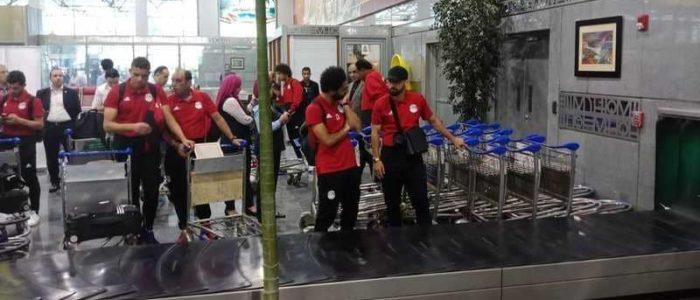 وصول المنتخب المصري لمطار القاهرة عائدا من روسيا