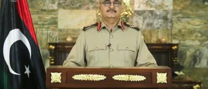 بالفيديو   حفتر يعلن تحرير درنة من الجماعات الإرهابية