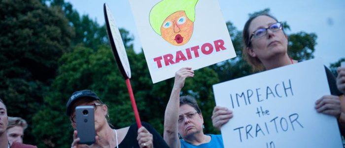 الاحتجاجات تلاحق ترامب من لندن إلي هلسنكي وختاماً أمام البيت الأبيض