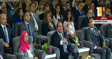 """السيسي: """"اللي اتعمل فى مصر واللي هيتعمل هقابل ربنا بيه سواء رضيتوا أو لأ"""""""