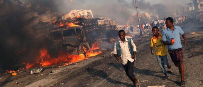 انفجار وإطلاق نار في محيط قصر الرئاسة بالصومال