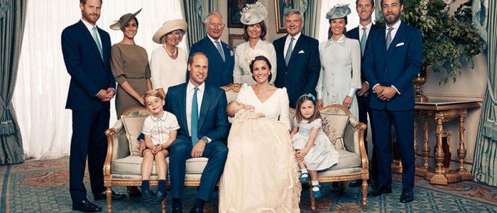 العائلة المالكة البريطانية تنشر صور تعميد الأمير لويس لأول مرة