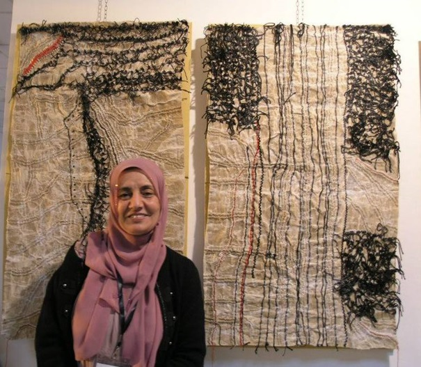 الفنانة الفلسطينية بثينة ملحم