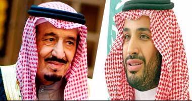 الملك سلمان وولي العهد يعزيان الرئيس السيسي فى وفاة حسنى مبارك