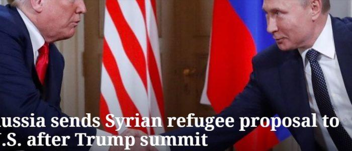 من نتائج قمة هلسنكي.. روسيا ترسل اقتراح اللاجئين السوريين إلي ترامب