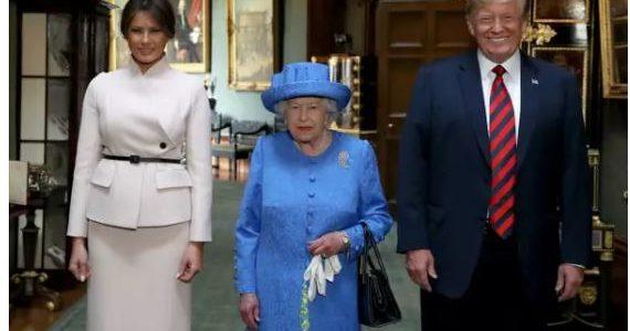 ترامب يكسر البروتوكول الملكي 3 مرات خلال مقابلته للملكة اليزابيث