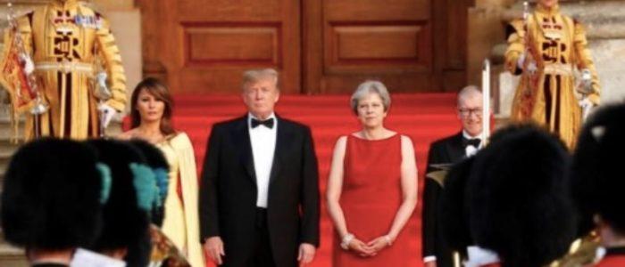 العائلة المالكة البريطانية رفضت لقاء ترامب وميلانيا في أول زيارة لهما للندن