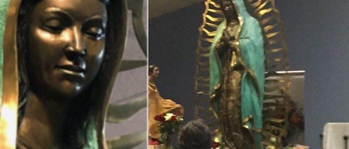 معجزة كنيسة نيو مكسيكو .. تمثال العذارء مريم يبكي زيت زيتون!