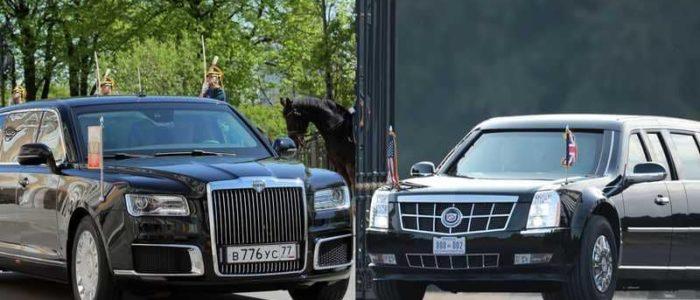 """أيهما أفضل سيارة ترامب الـ""""كاديلاك"""" بمليوني دولار ام سيارة بوتين الـ""""كورتيز"""" بـ119 مليون دولار؟"""