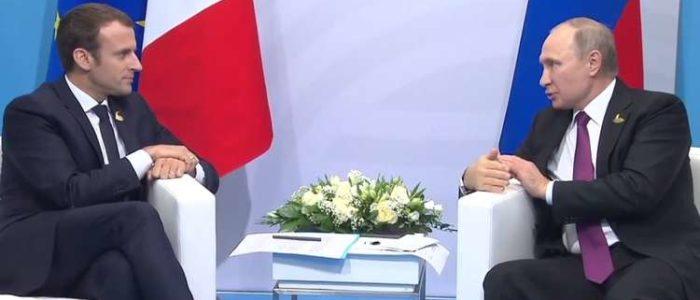 الشرق الأوسط محور العمل الدبلوماسي الروسي خلال اجتماع بوتين مع ماكرون وترامب