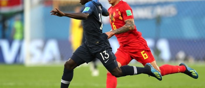 اهداف مباراة فرنسا وبلجيكا نصف نهائي كأس العالم 2018