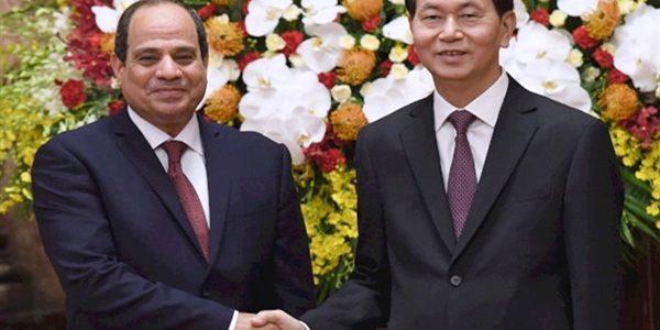 قمة بين السيسى والرئيس الفيتنامى بقصر الاتحادية