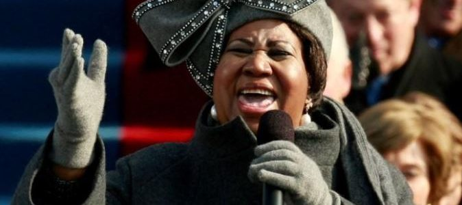 جنازة ملكة موسيقى السول أريثا فرانكلين في ديترويت يوم 31 أغسطس
