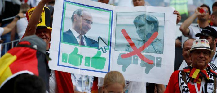 ألمان يحبون بوتين ويكرهون ميركل