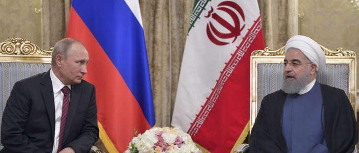 بوتين وروحاني يبحثان الملف السوري على هامش قمة قزوين