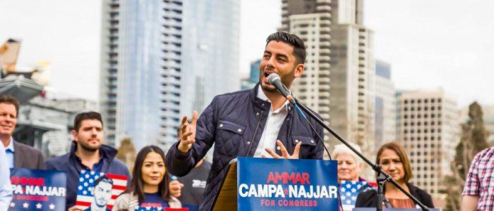 عمار كامبا نجار مرشح ديمقراطي لطبقة العمال بالكونجرس الأمريكي