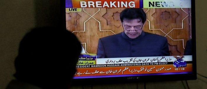 بالفيديو .. عمران خان يؤدي اليمين رئيسا لحكومة باكستان