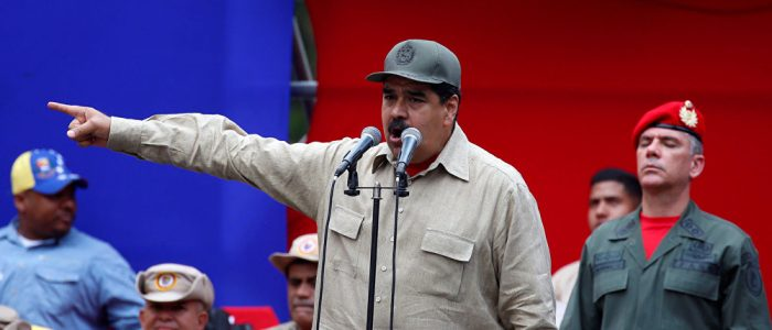 نيكولاس مادورو يشرف على تدريبات للجيش