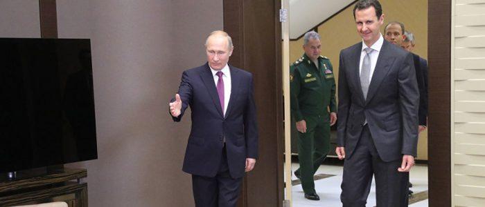 الكرملين: بوتين والأسد اتفقا على مواصلة التنسيق المشترك