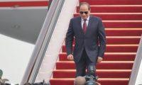 """السيسى يغادر إلى الصين للمشاركة بمنتدى """"الحزام والطريق الثانى"""""""