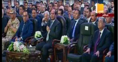 """الرئيس السيسى مقاطعا وزير النقل: """"عوضوا الناس ممن تم نزع ملكية أراضيهم"""""""