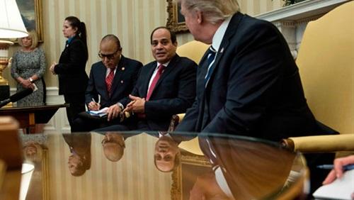 السيسي يؤكد حرص مصر على تعزيز العلاقات مع أمريكا