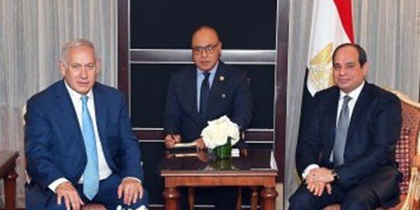 الرئيس السيسى يستقبلنتنياهو بمقر إقامته فى نيويورك
