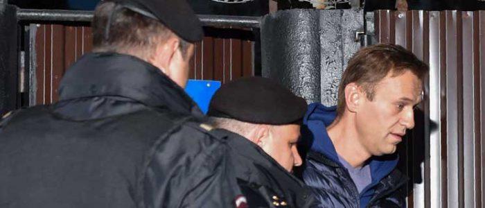 توقيف المعارض الروسي أليكسي نافالني مجددا فور خروجه من السجن