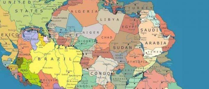 خريطة الأرض قبل 300 مليون سنة