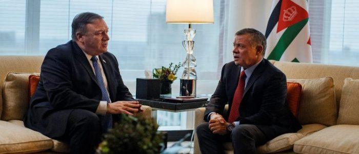 ملك الأردن يخبر بومبيو بصرورة مساعدة المجتمع الدولي للأونروا
