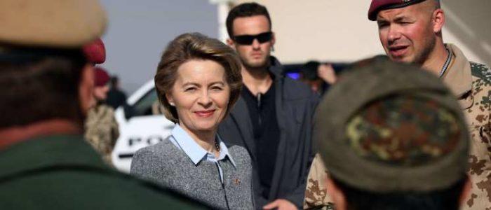 وزيرة الدفاع الألمانية تدرس خيارات عسكرية ضد نظام الأسد