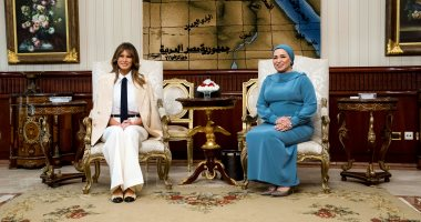 ميلانيا ترامب تغادر القاهرة بعد زيارة لمصر استغرقت عدة ساعات
