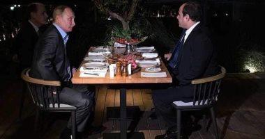 السيسى: سعادتى بالغة بلقاء صديقى الزعيم الروسى فلاديمير بوتين