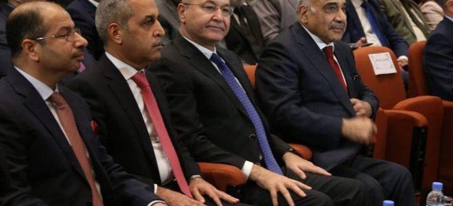 رئيس الحكومة العراقية الجديد يؤدي اليمين الدستورية و14 وزيرا بدون الدفاع والداخلية