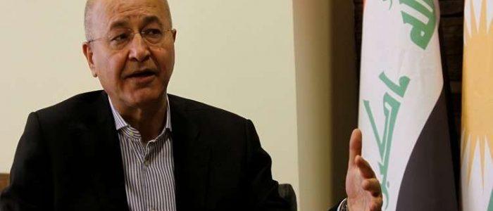 الرئيس المنتخب برهم صالح يتعهد بالحفاظ على وحدة العراق وسيادته