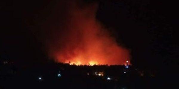 الحريق دمر 100 فدان في الوادي الجديد