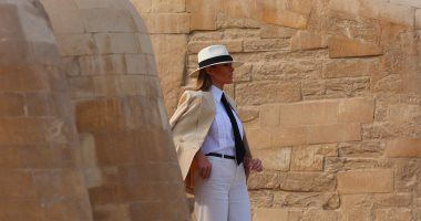 ميلانيا ترامب تحدثت من أمام أبو الهول عن زوجها ورحلتها لأفريقيا