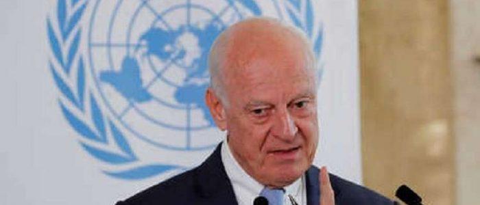 دي ميستورا يأسف لإضاعة السوريين فرصة هامة في أستانا