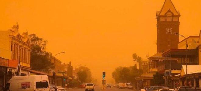 أستراليا تعلن حالة التأهب الصحية بسبب عاصفة ترابية