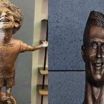 تمثال محمد صلاح يثير موجة سخرية ورونالدو مشوه