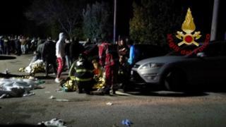 6 قتلى وعشرات الجرحى في تدافع بملهى ليلي في إيطاليا
