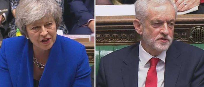 زعيم المعارضة البريطاني ينفي إهانته لتيريزا ماي بوصفها مرأة غبية