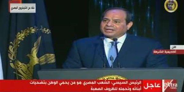 السيسي: البلد الذي يملك شعبا كأهل مصر لن يهزم أبدا