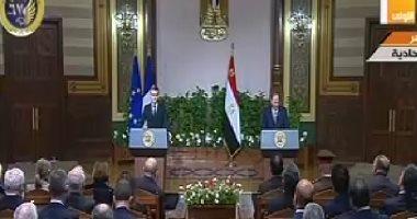 السيسي: الصداقة بين مصر وفرنسا تستند إلى تاريخ طويل من المصالح المتبادلة