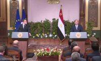 """""""ماكرون"""" يستعرض مع السيسى الأوضاع فى ليبيا ويؤكد تطلعه للقائه بقمة G7"""