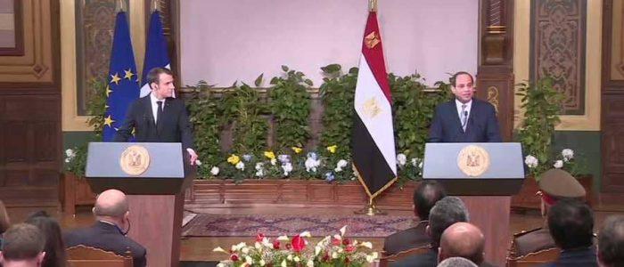 ماكرون: فرنسا تقدم مليار دولار لدعم مشروعات التنمية في مصر
